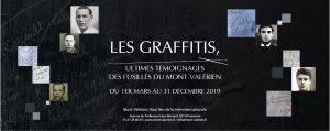 Vernissage | Les graffitis, ultimes témoignages Public · Organisé par Mémorial du Mont-Valérien et ONACVG