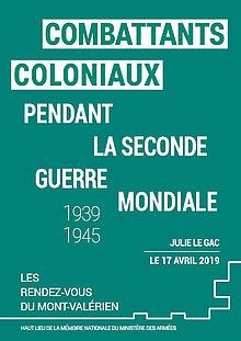 Conférence | «Combattants coloniaux pendant la Seconde Guerre mondiale (1939-1945)» par Julie Le Gac