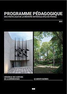 Programme pédagogique 2018-2019 des Hauts lieux de la mémoire nationale d'Île-de-France