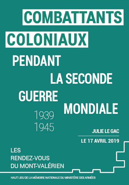 Conférence : «Combattants coloniaux pendant la Seconde Guerre mondiale (1939-1945)»