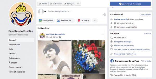 Rejoignez notre page Facebook