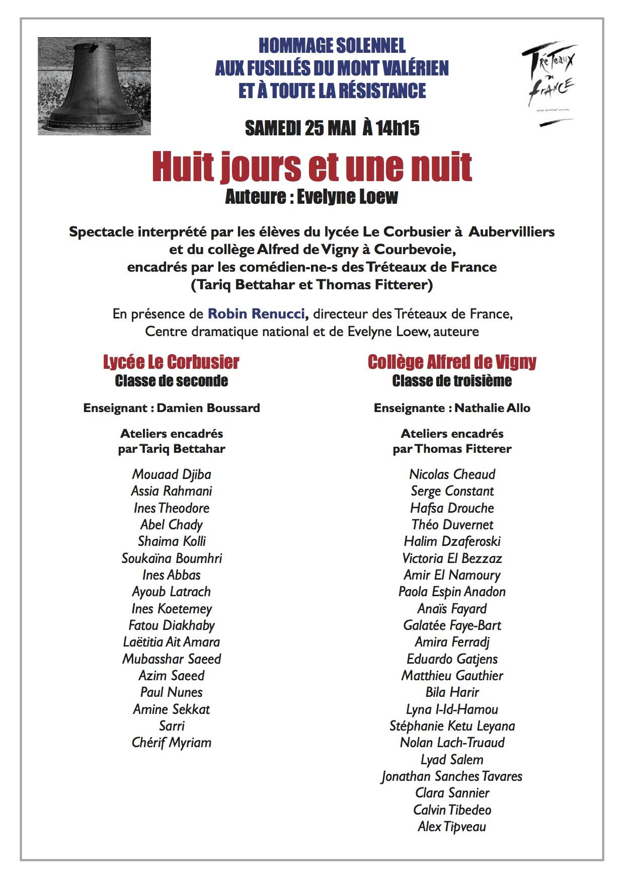 JNR 2019 – Découvrez «Huit jours et une nuit», le spectacle 2019 au Mont Valérien