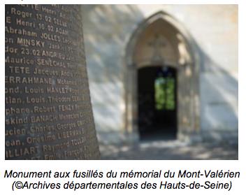 CONFÉRENCE DE PASCAL CONVERT : « LE MONUMENT AUX FUSILLÉS DU MONT- VALÉRIEN »