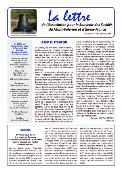 Découvrez le N°16 de La Lettre du Mont-Valérien
